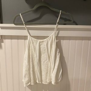 White Tank Top with Lace!